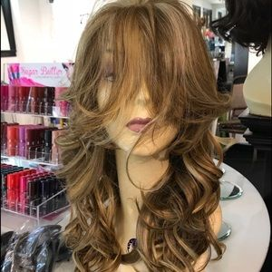 Accessories - Blonde mix lacefront wig Freepart Romance Curl